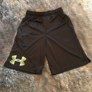 Youth Under Armour basketball shorts, with pockets